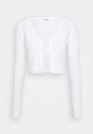 FLUFFY CARDIGAN - Vest - cream