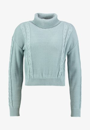 Pullover - dusty blue