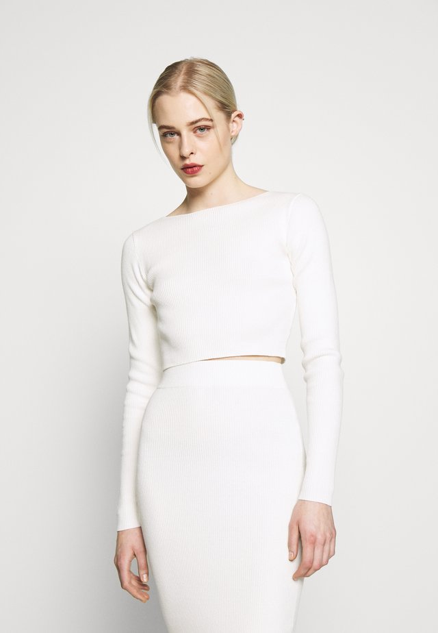 CROP JUMPER - Strickpullover - off white
