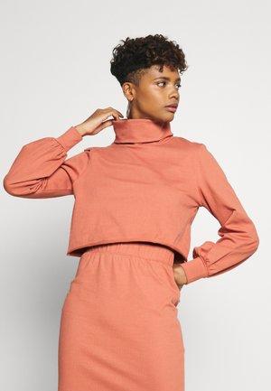 ROLL NECK LONG SLEEVE TOP - Sweatshirt - faded rust