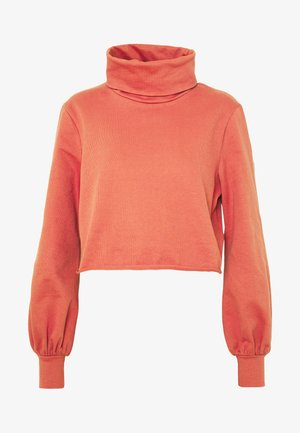 ROLL NECK LONG SLEEVE TOP - Sweater - faded rust
