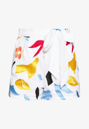 EMBROIDERED WAIST  - Szorty - white
