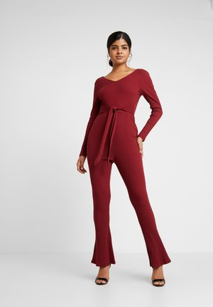 Jumpsuit - wine red