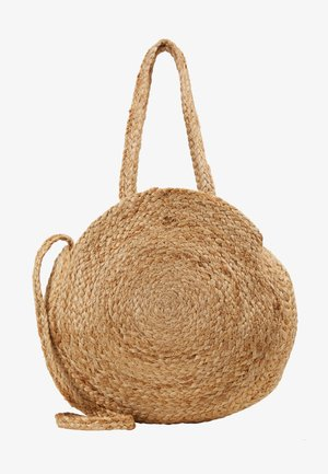 Bolso shopping - natural gold
