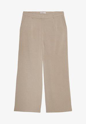 WIDE LEG TROUSER - Trousers - stone