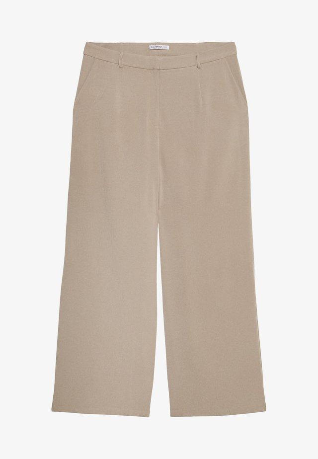 WIDE LEG TROUSER - Pantaloni - stone