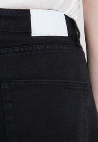 Glamorous Curve - KNEE LENGTH SKIRT WITH FRONT SLIT - Jeansskjørt - black - 5
