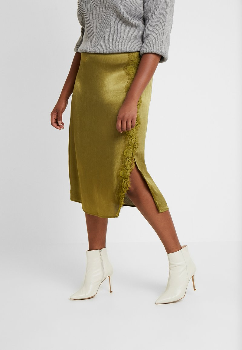 Glamorous Curve - TRIM SKIRT - A-line skjørt - olive