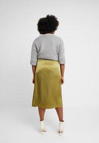 Glamorous Curve - TRIM SKIRT - A-line skjørt - olive - 2
