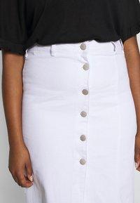 Glamorous Curve - BUTTON DETAIL SKIRT - Pencil skirt - off white - 4