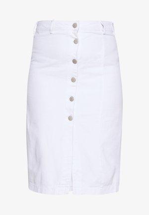 BUTTON DETAIL SKIRT - Pouzdrová sukně - off white