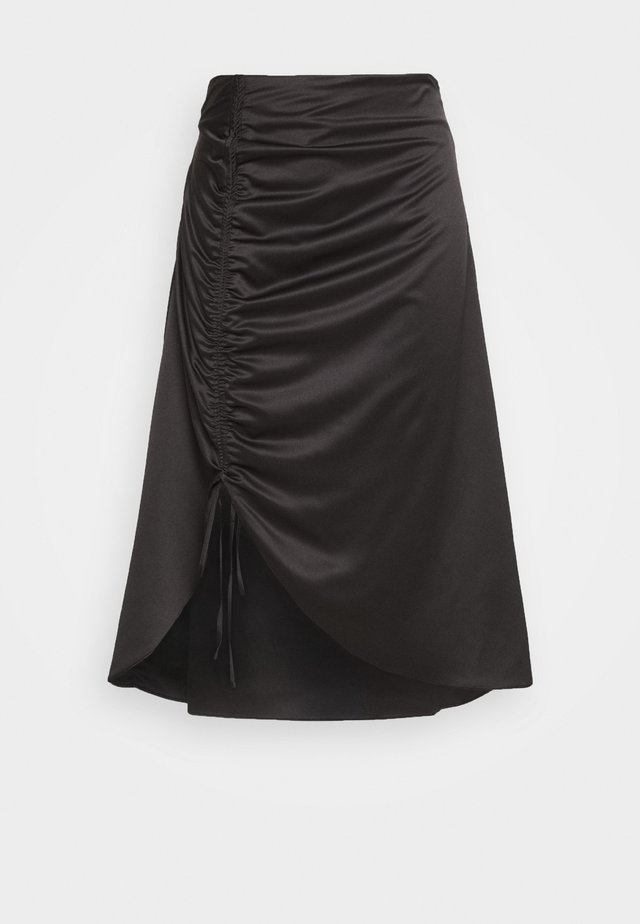 RUCHED SIDE SKIRT - Kynähame - black