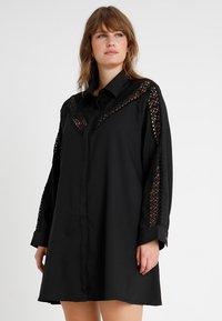 Glamorous Curve - INSERT DRESS - Skjortekjole - black - 0