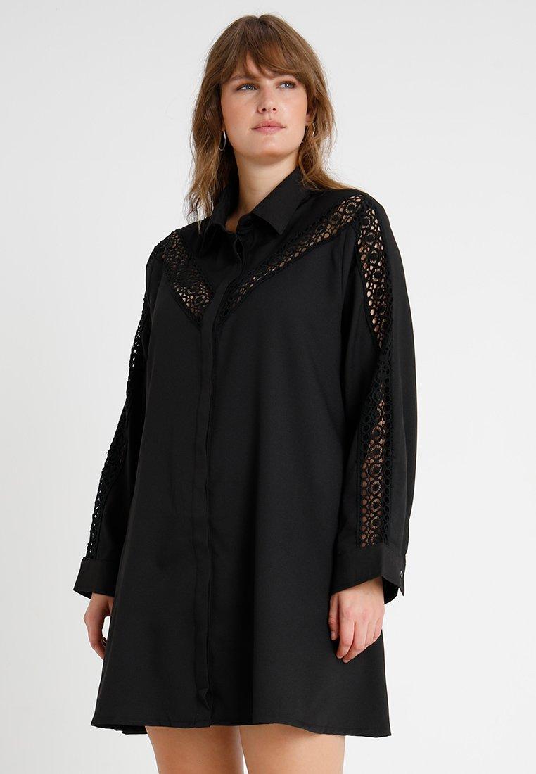 Glamorous Curve - INSERT DRESS - Skjortekjole - black
