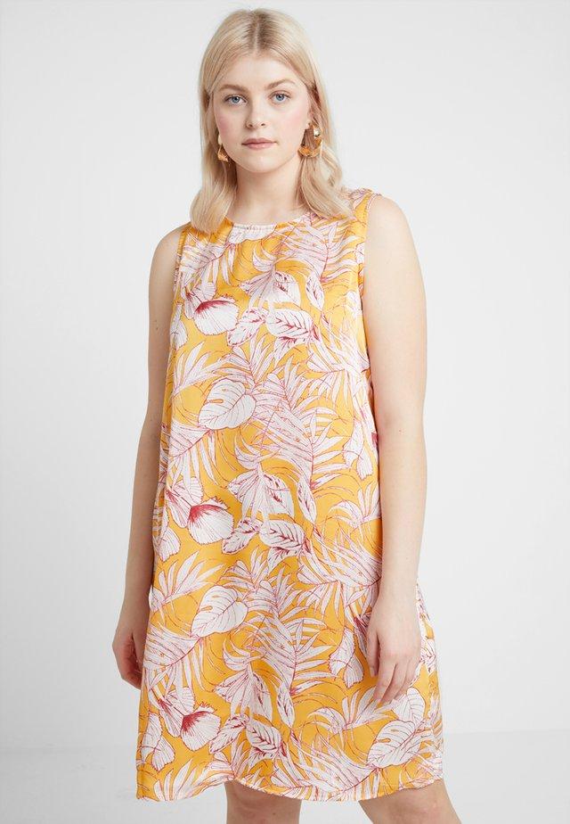 TIE BACK FOLK PRINT SHIFT DRESS - Robe d'été - marigold