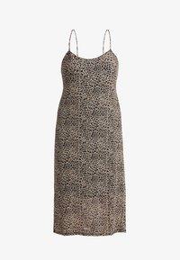 Glamorous Curve - LEOPARD DRESS - Długa sukienka - beige - 3