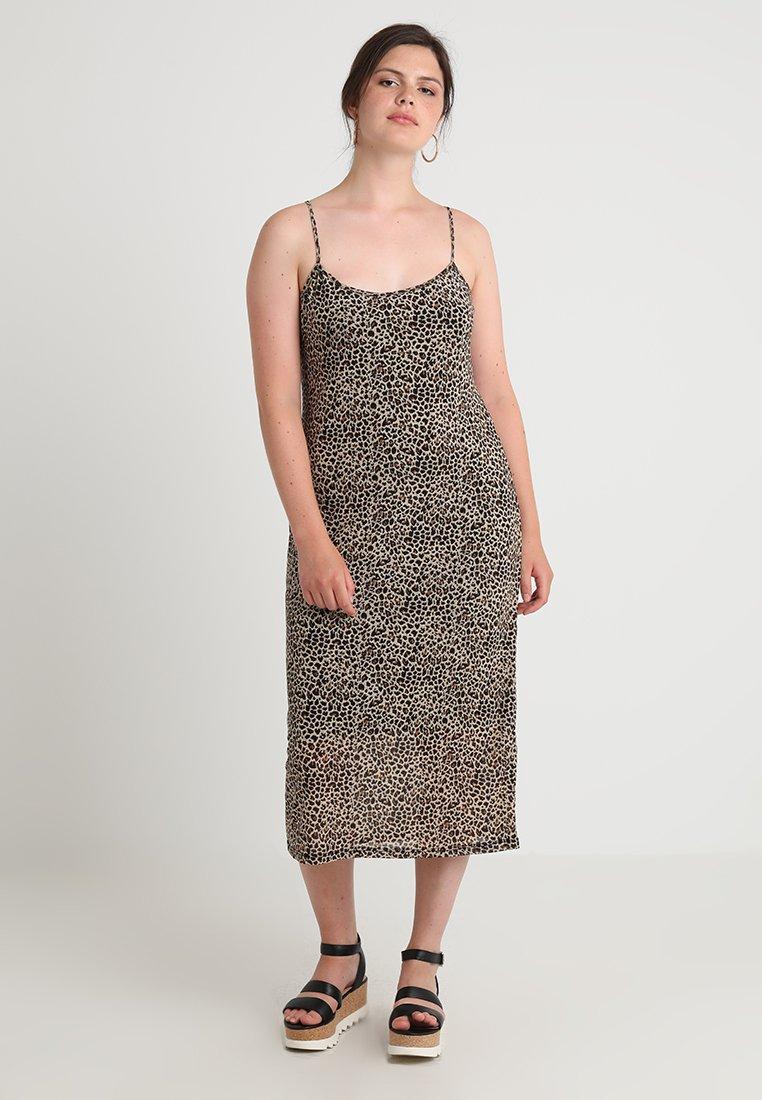 Glamorous Curve - LEOPARD DRESS - Długa sukienka - beige