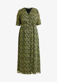 Glamorous Curve - DITSY FLORAL LONG SLEEVE WRAP DRESS - Maxi dress - yellow - 5
