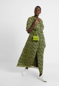 Glamorous Curve - DITSY FLORAL LONG SLEEVE WRAP DRESS - Maxi dress - yellow - 2