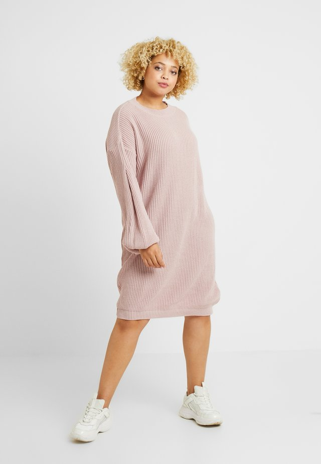 EXCLUSIVE DRESS  - Jumper dress - mauve