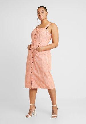 BUTTONED STRAP DRESS - Skjortklänning - orange