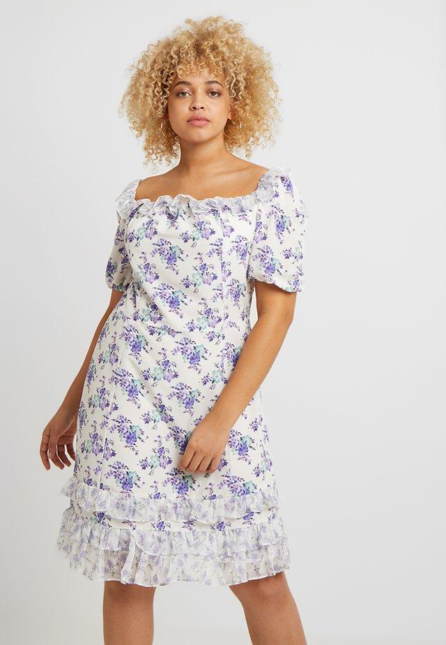 BARDOT MINI DRESS - Day dress - white