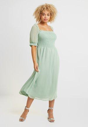 MIDI SMOCK DRESS - Day dress - sage green