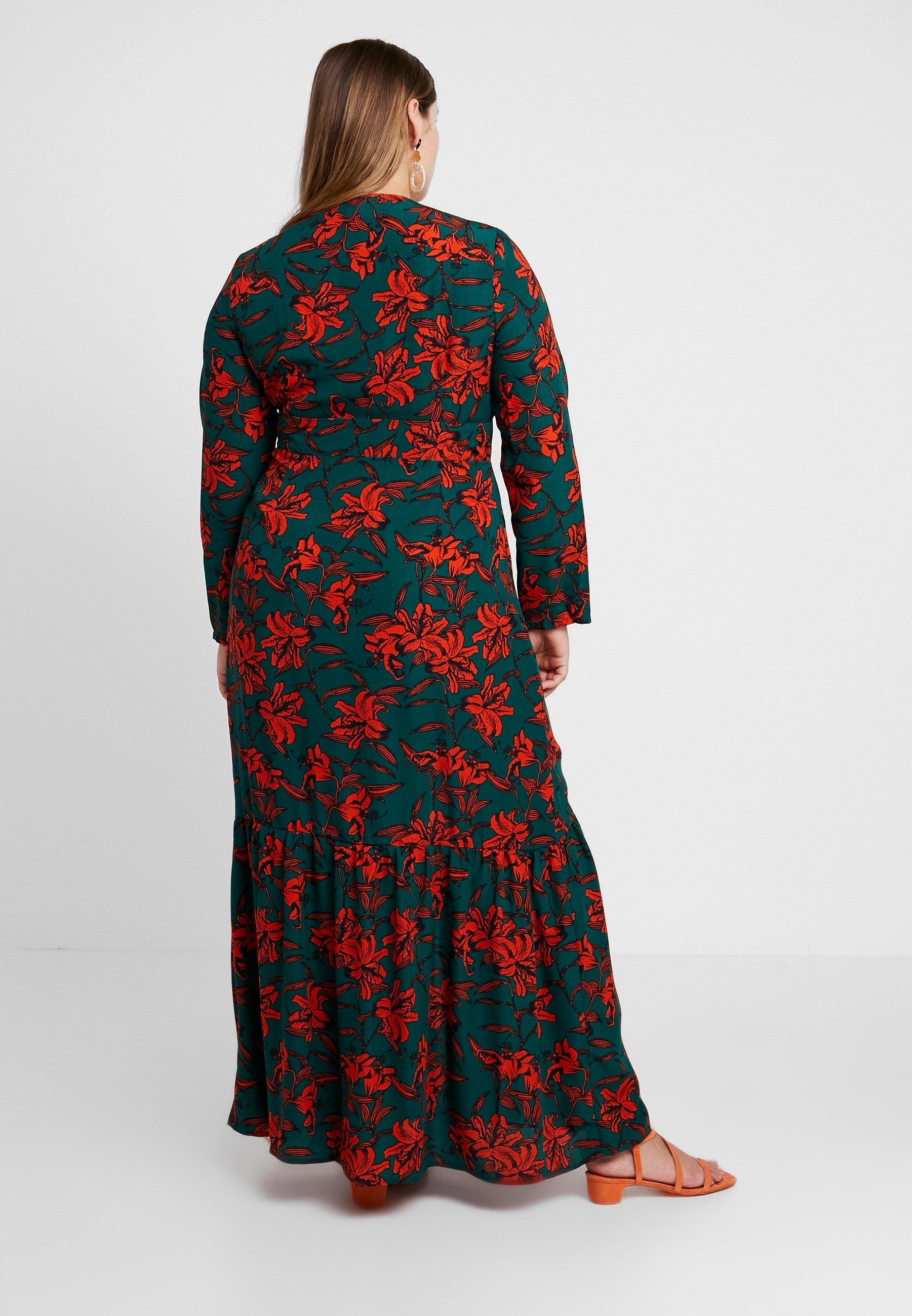 Green Glamorous DressRobe Curve rust Longue A3RjLc5q4