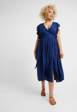 Długa sukienka - navy