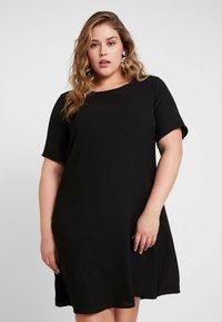 Glamorous Curve - SHIFT DRESS - Vapaa-ajan mekko - black - 0