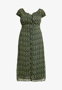 Glamorous Curve - WITH TIES VNECK DRESS - Sukienka koszulowa - black/yellow - 4