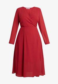 Glamorous Curve - WRAP MIDI DRESS - Sukienka letnia - red - 4