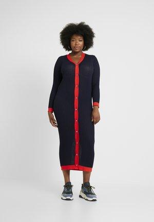 POPPER DRESS - Jumper dress - navy/red