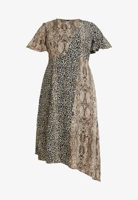 Glamorous Curve - MIX AND MATCH ASYMETRIC ANIMAL MIDI DRESS - Maxi dress - brown - 6