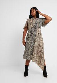 Glamorous Curve - MIX AND MATCH ASYMETRIC ANIMAL MIDI DRESS - Maxi dress - brown - 2