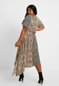 Glamorous Curve - MIX AND MATCH ASYMETRIC ANIMAL MIDI DRESS - Maxi dress - brown - 3