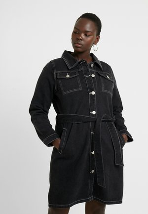 MINI DRESS - Robe en jean - black