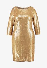 Glamorous Curve - 3/4 SEQUIN MINI DRESS - Koktejlové šaty/ šaty na párty - matt gold - 5