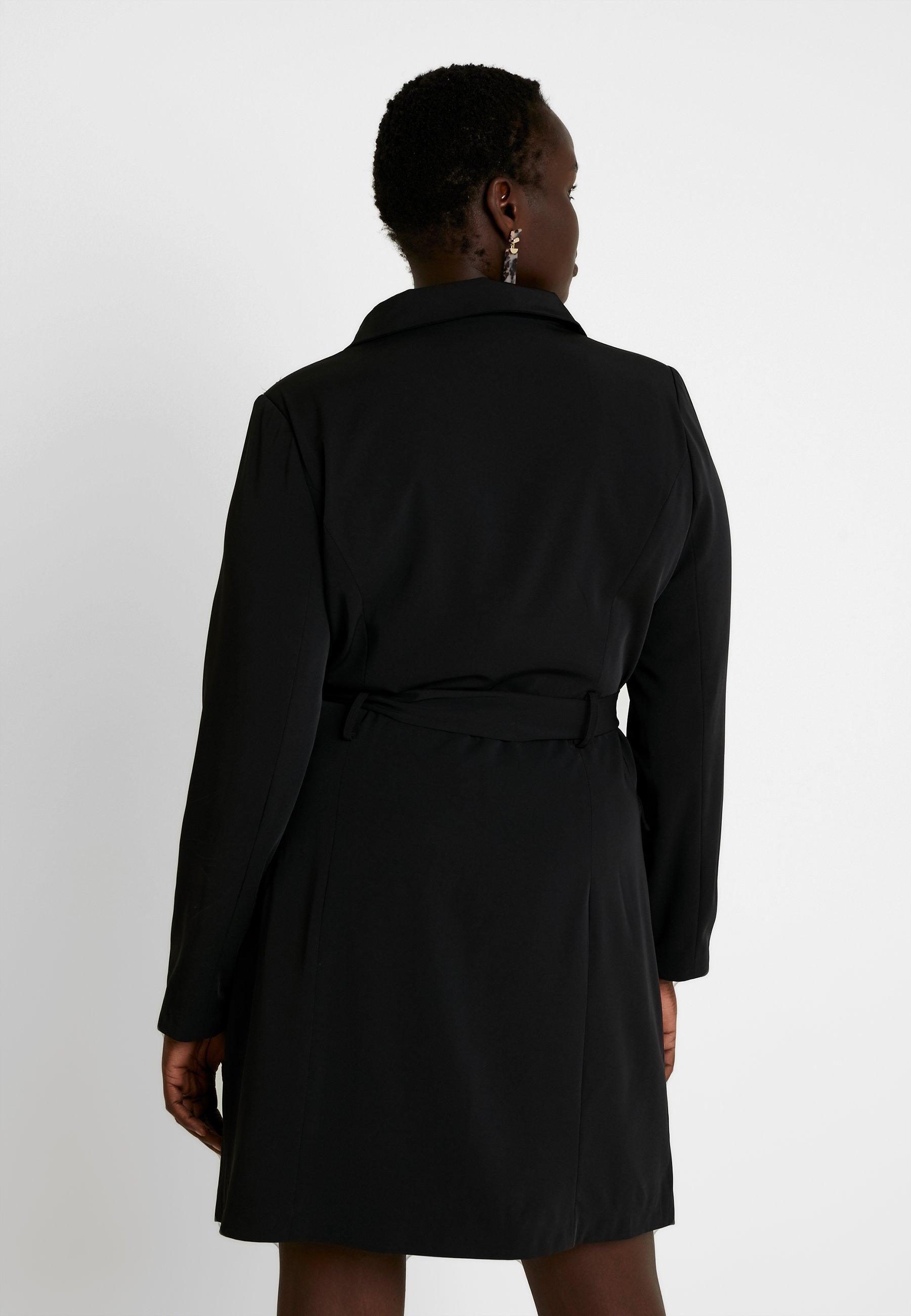 Belted Glamorous Blazer DressRobe Black Curve Soirée De Aj5RqL34