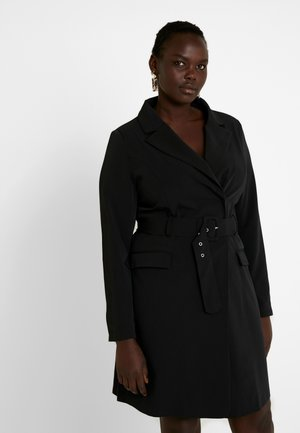 BELTED BLAZER DRESS - Robe de soirée - black