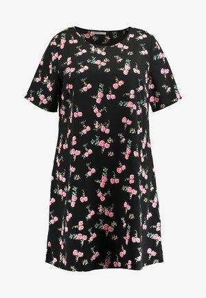 DITSY FLORAL SHIFT DRESS - Denní šaty - black