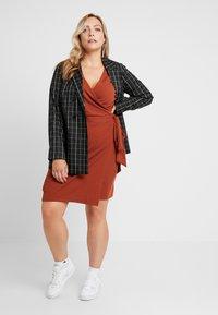 Glamorous Curve - WRAP DRESS - Day dress - rust brown - 1