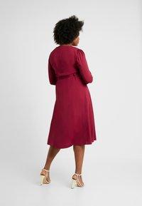 Glamorous Curve - BUTTON FRONT DRESS - Sukienka letnia - burgundy - 2