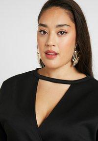 Glamorous Curve - BELTED DRESS - Pouzdrové šaty - black - 3