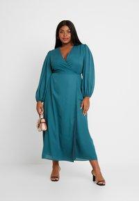 Glamorous Curve - LONG SLEEVE WRAP DRESS - Maxi dress - teal - 2