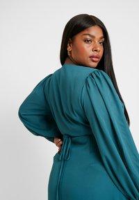 Glamorous Curve - LONG SLEEVE WRAP DRESS - Maxi dress - teal - 6