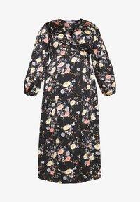 Glamorous Curve - LONG SLEEVE WRAP DRESS - Maxi-jurk - black - 3