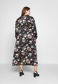 Glamorous Curve - LONG SLEEVE WRAP DRESS - Maxi-jurk - black