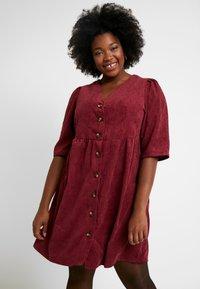Glamorous Curve - BUTTON DOWN DRESS - Shirt dress - bordeaux - 0