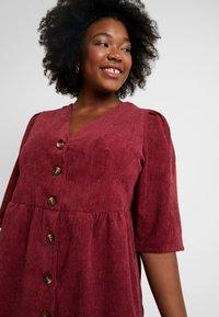 Glamorous Curve - BUTTON DOWN DRESS - Shirt dress - bordeaux - 3